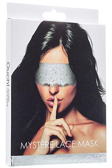 Shots Toys Mystere Lace Mask, белая Кружевная маска на глаза