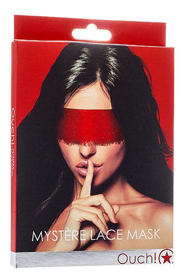Shots Toys Mystere Lace Mask, красная Кружевная маска на глаза