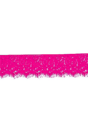 Shots Toys Myst?re Lace Mask, розовая Кружевная маска на глаза