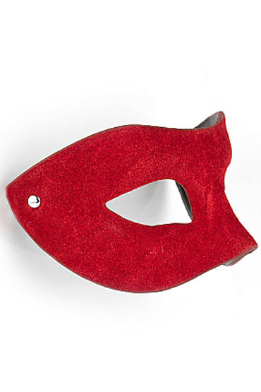 Shots Toys Eye Mask Suede, красная Маска на глаза, универсальной формы