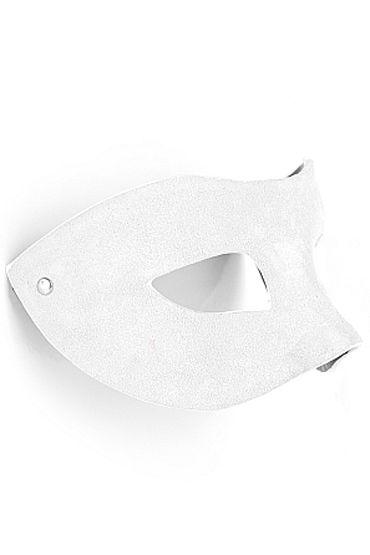 Shots Toys Eye Mask Suede, белая Маска на глаза, универсальной формы