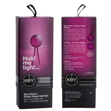 Jopen Key Mini Stella I, розовый Вагинальные шарики на гибкой сцепке