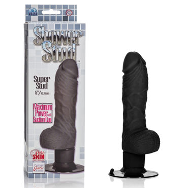 California Exotic Shower Stud Super Stud, черный Вибратор реалистичной формы