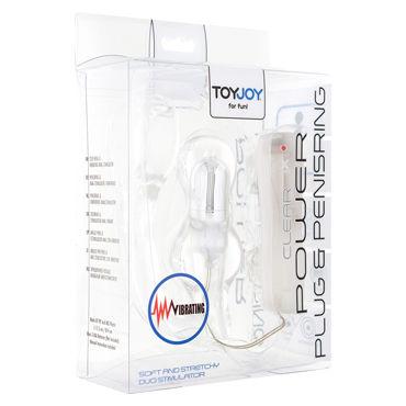 Toy Joy Manpower Plug & Penis ring, прозрачная Анальная втулка с эрекционным кольцом, вибрирующая