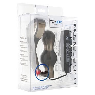 Toy Joy Manpower Plug & Penisring, серый Анальная втулка с эрекционным кольцом, вибрирующая