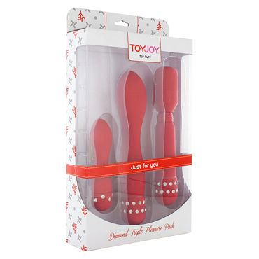 Toy Joy Diamond Triple Pleasure Pack, красный Набор вибраторов