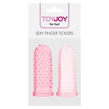 Toy Joy Sexy Finger Ticklers, розовый Набор из двух насадок на пальцы