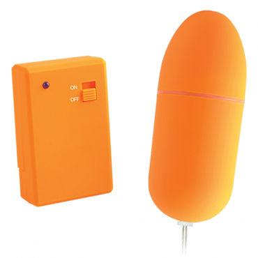 Pipedream Neon Luv Touch Remote Control Bullet, оранжевое Виброяйцо на дистанционном управлении