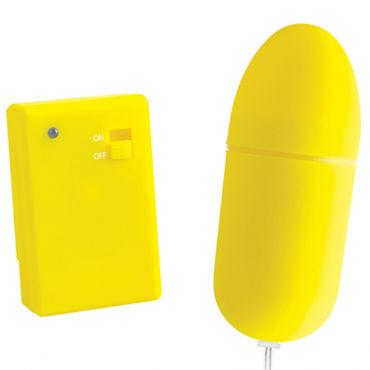 Pipedream Neon Luv Touch Remote Control Bullet, желтое Виброяйцо на дистанционном управлении