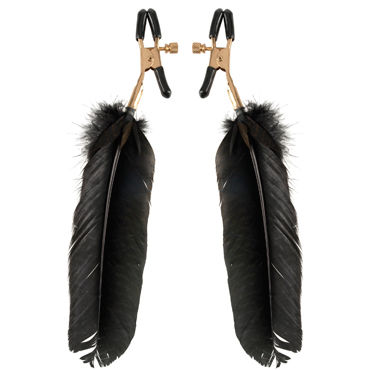 Pipedream Fetish Fantasy Gold Feather Nipple Clamps Зажимы с перьями на соски
