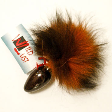 Wild Lust Анальная пробка 4см, оранжево-черный, С заячьим хвостом