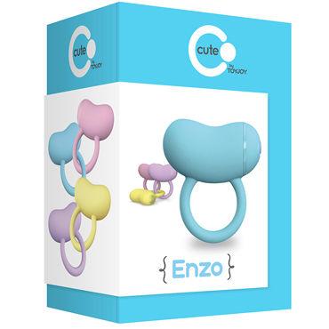 Toy Joy Enzo Couples Ring, голубое Виброкольцо на пенис