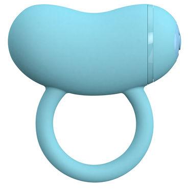 Toy Joy Enzo Couples Ring, голубое, Виброкольцо на пенис