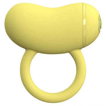 Toy Joy Enzo Couples Ring, желтое, Виброкольцо на пенис