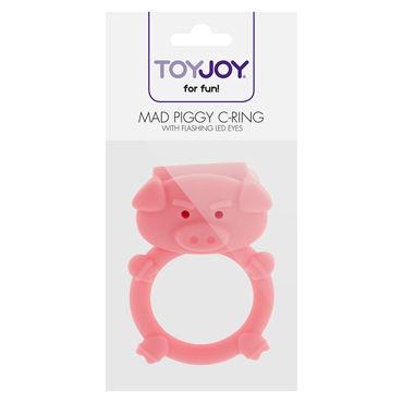 Toy Joy Mad Piggy C-ring Виброкольцо в виде свиньи