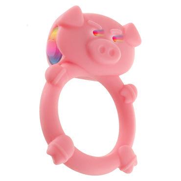 Toy Joy Mad Piggy C-ring, Виброкольцо в виде свиньи