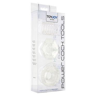 Toy Joy Power Cock Tools, прозрачный Набор эрекционных колец на пенис