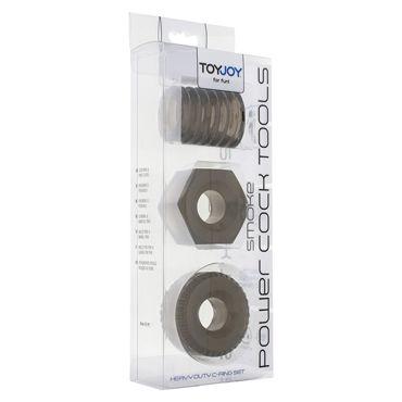 Toy Joy Power Cock Tools, черный Набор эрекционных колец на пенис