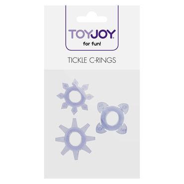 Toy Joy Tickle C-Rings, фиолетовый Набор эрекционных колец на пенис