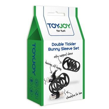 Toy Joy Double Tickler Sleeve Set, черный Набор из двух насадок на пенис
