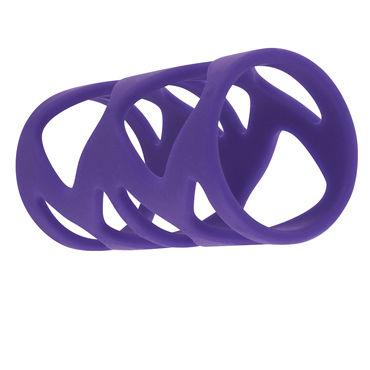 Toy Joy Double Tickler Sleeve Set, фиолетовый Набор из двух насадок на пенис