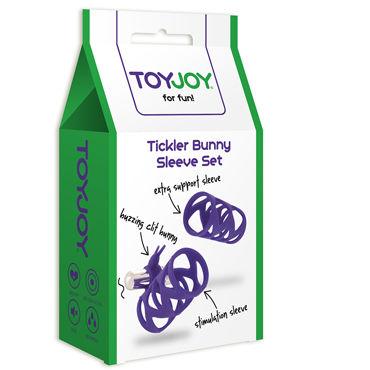 Toy Joy Tickler Bunny Sleeve Set, фиолетовый Набор из двух насадок на пенис