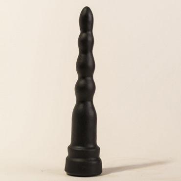 Bioclon Анальная елочка, черная, С ограничительным основанием