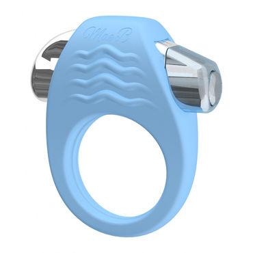Mae B Stylish Soft Touch C-ring, голубое Эрекционное кольцо с вибрацией