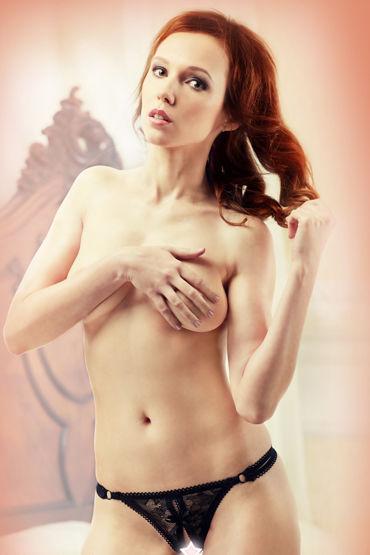Lola Nicole, Ажурные стринги с откровенным вырезом - Размер M/L