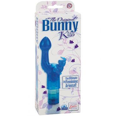 California Exotic The Original Bunny Kiss, синий Вибратор с клиторальным стимулятором