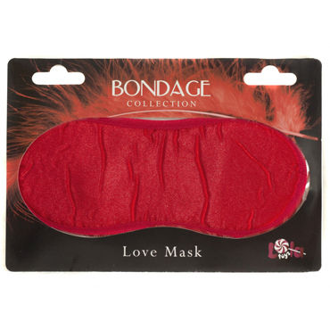 Lola Toys Bondage Love Mask, красная Маска на глаза