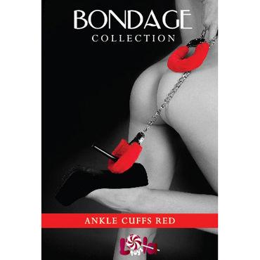 Lola Toys Bondage Ankle Cuffs, красные Оковы на ноги с мехом