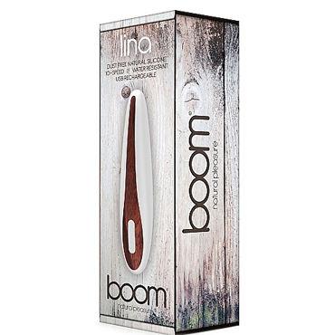 Shots Toys Boom Lina, белый Классический вибратор с перезаряжаемым аккумулятором