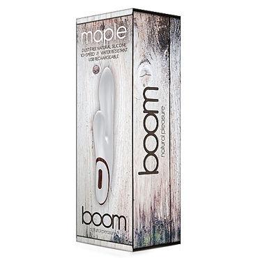 Shots Toys Boom Maple, белый Вибратор с клиторальным отростком