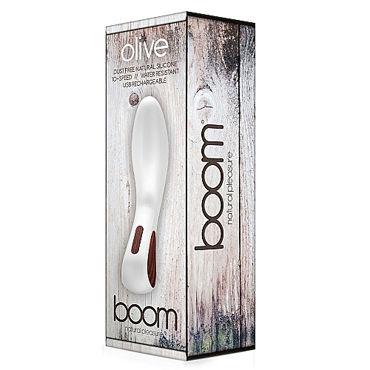 Shots Toys Boom Olive, белый Вибратор изогнутой формы