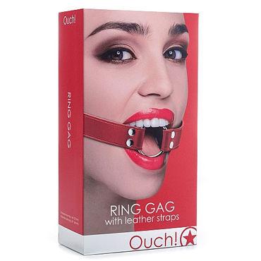 Ouch Ring Gag, красный Расширяющий кляп