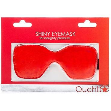 Ouch Shiny Eye mask, красная Маска на глаза