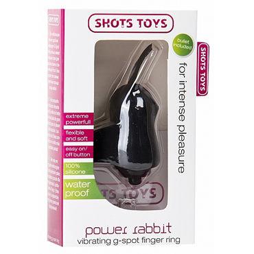 Shots Toys Power Rabbit, черный Стимулятор на палец