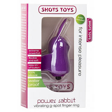 Shots Toys Power Rabbit, фиолетовый Стимулятор на палец
