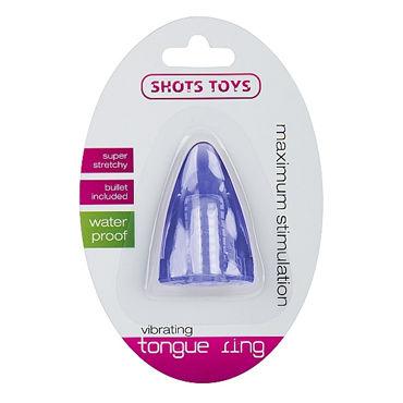 Shots Toys Vibrating Tongue, голубой Стимулятор на палец или язык