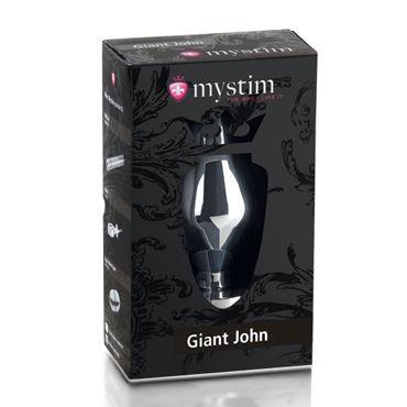 Mystim Giant John XXL Огромная анальная втулка для электростимуляции