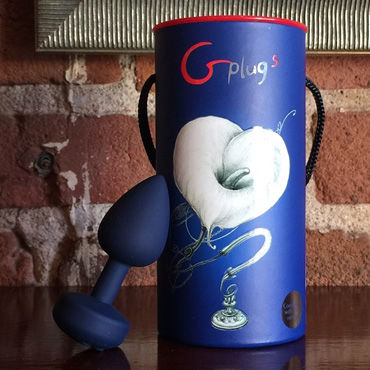 """Fun Toys Gplug """"L"""", синяя Первая перезаряжаемая анальная пробка с вибрацией, 10.5 см"""