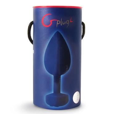 """Fun Toys Gplug """"S"""", синяя Первая перезаряжаемая анальная пробка с вибрацией, 8 см"""