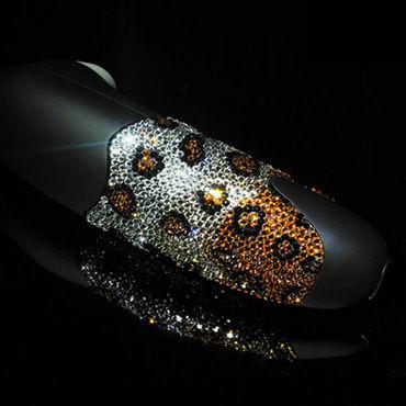 Womanizer, леопардовый Вакуумный стимулятор клитора, инкрустированый кристаллами Swarovski