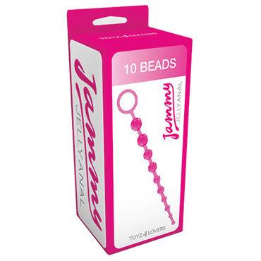 Toyz4lovers Jammy Jelly Anal 10 Beads, розовые Анальные бусы
