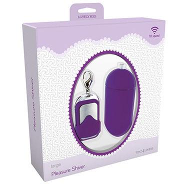 Toyz4lovers Lovely Egg Pleasure Shiver Large, фиолетовое Виброяйцо с дистанционным управлением