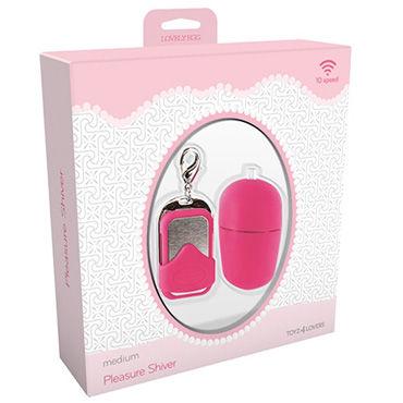 Toyz4lovers Lovely Egg Pleasure Shiver Medium, розовое Виброяйцо с дистанционным управлением