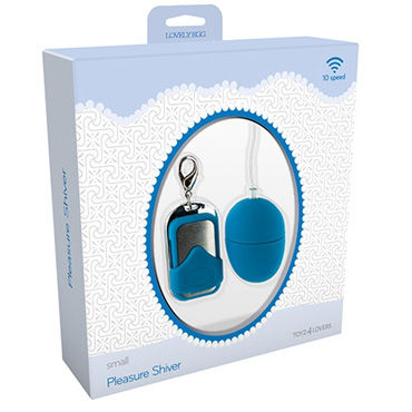 Toyz4lovers Lovely Egg Pleasure Shiver Small, голубое Виброяйцо с дистанционным управлением