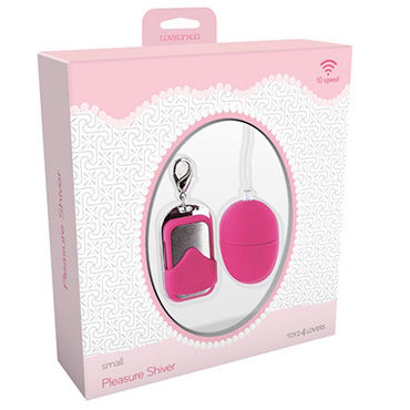 Toyz4lovers Lovely Egg Pleasure Shiver Small, розовое Виброяйцо с дистанционным управлением