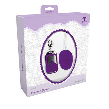 Toyz4lovers Lovely Egg Pleasure Shiver Small, фиолетовое Виброяйцо с дистанционным управлением